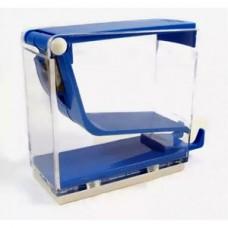 Диспенсер для ватных валиков,1шт. (тип-нажимной) Голубой (Blue)