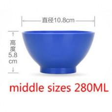Чашка силиконовая 280 мл,  Dark Blue Синяя Удобная силиконовая  чашка для замешивания гипса и альгин