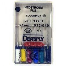 Dentsply H-Files 21мм ISO 15-40  A+ (каналорасширители)