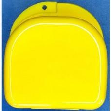 denture box  DB09 Large with vents COLOR YELLOW Specification:82*85*46mm Бокс для хранения съемных п