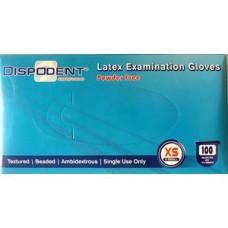 Перчатки латекс  XS Диспотрейд 2-го хлорирования Dispodent