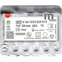 VDW Mtwo file niti files  6pcs/pack  25mm #15/05 VDW М2 Тейпер NiTi 21mm V04-1235-025-015